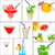 fruits · boissons · collage · restaurant · fruits · d'été · fraise - photo stock © keko64