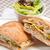 italian ciabatta panini sandwich chicken stock photo © keko64