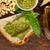 bruschetta · receta · blanco · alimentos · mesa · de · madera · papel - foto stock © keko64
