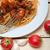 spagetti · petrezselyem · fehér · vágási · körvonal · tészta · ebéd - stock fotó © keko64