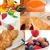 ealthy vegetarian breakfast collage stock photo © keko64