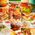 гриль · Бутерброды · ветчиной · сыра · Top - Сток-фото © keko64