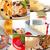 fresh dessert cake collage stock photo © keko64