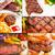 wołowiny · dania · kolaż · placu · ramki · tle - zdjęcia stock © keko64