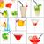 fruto · bebidas · colagem · restaurante · frutas · de · verão · morango - foto stock © keko64
