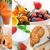 rojo · frutas · collage · frutas · hortalizas · alimentos · saludables - foto stock © keko64