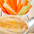 fresh hummus dip with raw carrot and celery stock photo © keko64