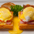 eggs benedict on bread with tomato and ham stock photo © keko64