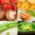 gombák · kollázs · gyűjtemény · ehető · fehér · étel - stock fotó © keko64