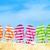 szandál · csíkos · háttér · nyár · homok · láb - stock fotó © kenishirotie