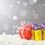 Weihnachten · rot · Schnee · bokeh · Kopie · Raum - stock foto © kenishirotie