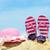 nyári · vakáció · rózsaszín · napszemüveg · kalap · tengerpart · nyár - stock fotó © kenishirotie