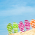 nyár · tengerpart · csetepaté · papucs · kék · ég · nap - stock fotó © kenishirotie