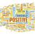 gondolkodik · pozitív · szöveg · kézírás · betűtípus · vágólap - stock fotó © kentoh
