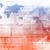 moderne · wereldkaart · kamer · Rood · behang · donkere - stockfoto © kentoh