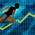 senior businesswoman running with chart graph background stock photo © kentoh