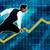 senior businessman running with chart graph background stock photo © kentoh