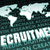 mundo · reclutamiento · empresario · mano · tocar · virtual - foto stock © kentoh