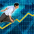 asian businessman running with chart graph background stock photo © kentoh