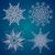 conjunto · elegância · natal · floco · de · neve · padrão · flor - foto stock © keofresh