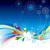 alegre · natal · onda · cartão · feliz · ano · novo · colorido - foto stock © keofresh