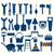 working tools blue icon stock photo © kheat