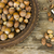 hazelnut on rustic background stock photo © kidza