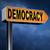 demokrácia · felirat · citromsárga · fekete · gyémánt · alakú - stock fotó © kikkerdirk