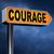félelem · bátorság · út · választás · mutat · stratégia - stock fotó © kikkerdirk