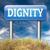 waardigheid · aanzien · vertrouwen · trots · teken - stockfoto © kikkerdirk