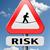 crisi · rischio · cartello · stradale · frecce · cielo - foto d'archivio © kikkerdirk