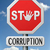 stoppen · corruptie · stopteken · teken · Rood · criminaliteit - stockfoto © kikkerdirk