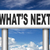 wat · toekomst · amerikaanse · verkeersborden · woord · hemel - stockfoto © kikkerdirk