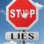 mentiras · promesa · romper · engaño · senalización · de · la · carretera · texto - foto stock © kikkerdirk