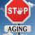 öregedés · figyelmeztetés · jelzőtábla · naplemente · égbolt · háttér - stock fotó © kikkerdirk