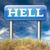widziane · piekła · zło · diabeł · katastrofa · podpisania - zdjęcia stock © kikkerdirk