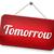morgen · teken · volgende · dag · banner · binnenkort - stockfoto © kikkerdirk