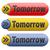 amanhã · assinar · próximo · dia · bandeira · em · breve - foto stock © kikkerdirk