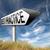 mejor · práctica · senalización · de · la · carretera · verde · muestra · de · la · carretera · nube - foto stock © kikkerdirk