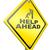 ヘルプ · 黄色 · 道路標識 · 通り · にログイン · 都市 - ストックフォト © kikkerdirk