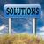 sorunları · çözümler · makro · atış · dünya · bilmece - stok fotoğraf © kikkerdirk