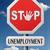 desemprego · aviso · placa · sinalizadora · pôr · do · sol · céu · negócio - foto stock © kikkerdirk