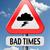 плохо · впереди · будущем · дорожный · знак · желтый - Сток-фото © kikkerdirk