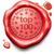 üst · 100 · damga · kırmızı · balmumu - stok fotoğraf © kikkerdirk