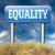 égalité · solidarité · égal · droits · pas - photo stock © kikkerdirk