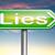 mentiras · promessa · quebrar · engano · placa · sinalizadora · texto - foto stock © kikkerdirk