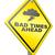 kötü · önde · sorunları · gelecek · yol · işareti · sarı - stok fotoğraf © kikkerdirk