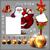 karácsony · szett · illusztráció · hasznos · designer · munka - stock fotó © kjolak