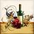 vino · rosso · bottiglia · uve · ramo · etichetta · isolato - foto d'archivio © kjolak