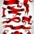 szett · piros · szalagok · illusztráció · hasznos · designer - stock fotó © kjolak